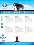 Web site design template, vector Royalty Free Stock Photo