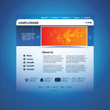 Web site design template vector Royalty Free Stock Images