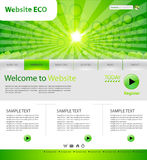 Web site di Eco Immagine Stock