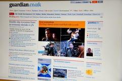 Web site di The Guardian immagine stock libera da diritti