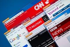 Web site di notizie calde Immagine Stock