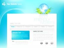 Web site do Eco-estilo Imagem de Stock Royalty Free
