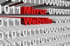 Web site do espelho Imagens de Stock Royalty Free