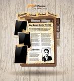 Web site do estilo do vintage do livro da foto Imagem de Stock Royalty Free