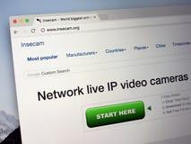 Web site do insecam COM - insecam Fotografia de Stock Royalty Free