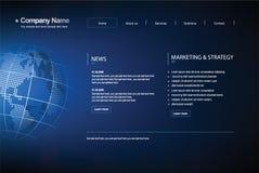 Web site do molde do negócio. Fotos de Stock Royalty Free
