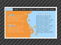 Web site do molde do vetor ilustração royalty free