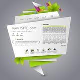 Web site do origâmi de Eco Imagens de Stock