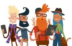 Web site do retrato do grupo dos povos da equipe do negócio Imagem de Stock Royalty Free