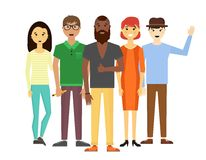 Web site do retrato do grupo dos povos da equipe do negócio Imagens de Stock
