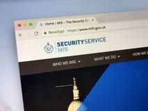 Web site do serviço de segurança, também MI5 Imagens de Stock Royalty Free