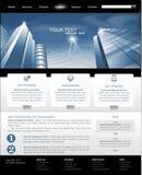 Web site do vetor com construção para o negócio Imagens de Stock Royalty Free
