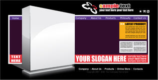 Web Site Elegant Template Stock Photos