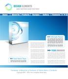 Web Site Elegant Template royalty free stock image