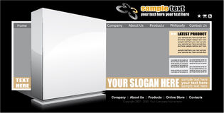 Web Site Elegant Template Royalty Free Stock Photography