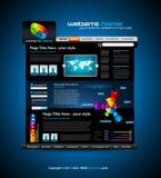 Web site - elegante Auslegung für Geschäft Stockfotografie