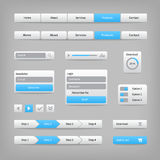 Web site elements with blue buttons navigation on Royalty Free Stock Photo