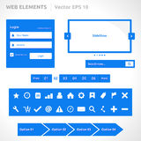 Web site elements template Royalty Free Stock Photo