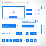Web site elements template Stock Photo