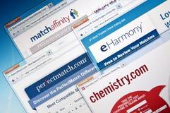 Web site en línea de la datación