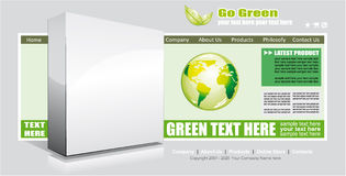 Web Site Environmental Green Template Royalty Free Stock Images
