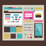 Web site. Flat design elements. Stock Photo