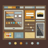Web site. Flat design elements. Stock Photos