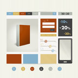 Web site flat design template. Royalty Free Stock Image