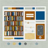 Web site flat design template. Stock Image