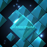 Web site  geometric glossy background Royalty Free Stock Photo