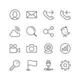 Web site geral e ícones móveis - Vector a ilustração, linha ícones ajustados ilustração do vetor