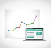 Web site great visit rate illustration design. Over a white background Royalty Free Stock Photo