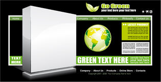 Web Site GreenTemplate Royalty Free Stock Image