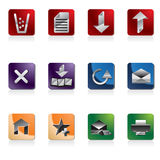 Web Site Icon. Web Site Navigation Icons - Vector Icon Set Royalty Free Stock Photos