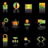 Web Site Icon. S - vector icon set Stock Photo