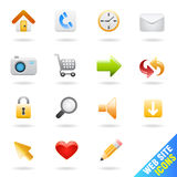 Web site icon set Stock Image