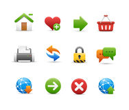 Web Site Icon Set Royalty Free Stock Images