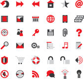 Web site icons. Big  set Stock Images