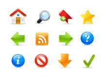 Web Site Icons / Gel Series Stock Image