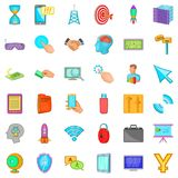 Web site icons set, cartoon style Stock Photo