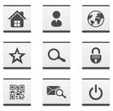 Web site icons set. Web site and internet illustration set Royalty Free Stock Photography
