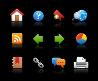 Web Site Icons -- Soft Series Royalty Free Stock Photography