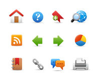 Web Site Icons -- Soft Series Royalty Free Stock Photo