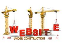 Web site im Bau Stockbild