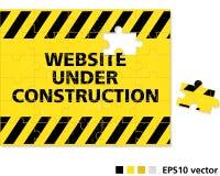 Web site im Bau Lizenzfreies Stockbild