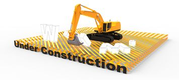 Web site im Bau Stockfotografie