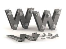 Web site im Bau - Schrauben Stockbild