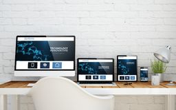 Web site inovativo do desktop multidevice ilustração stock