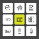 Web, site Web, interface utilisateurs, application, Internet, ENV IC illustration stock