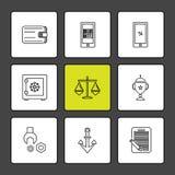 Web, site Web, interface utilisateurs, application, Internet, ENV IC illustration de vecteur